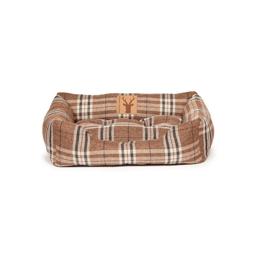 Newton Truffle Snuggle Dog Bed - Brown - Fernie's Choice Classic Country Wear for Dogs