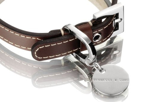 Royal Leather Collar - Chocolate Brown - Fernie's Choice Classic Country Wear for Dogs