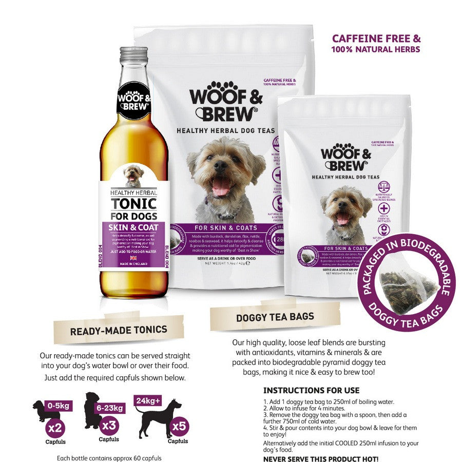 Skin & Coat Dog Tonic from Woof & Brew - Fernie's Choice Classic Country Wear for Dogs