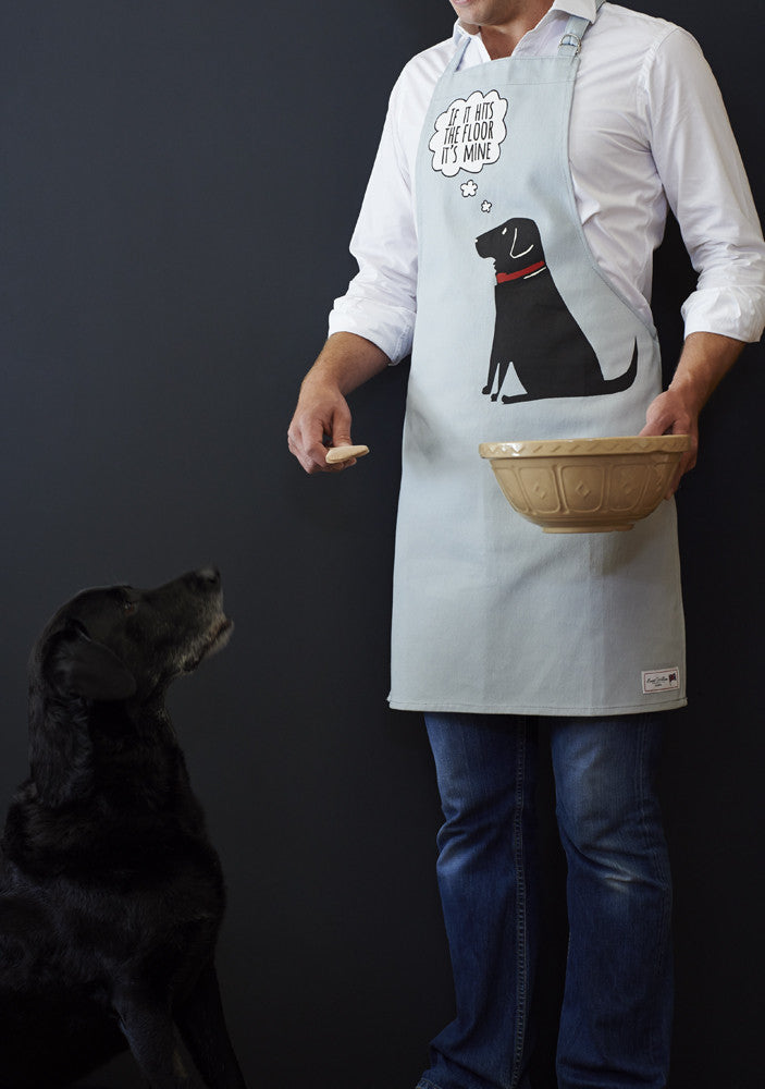 Black Labrador Dog Apron - Adjustable Neck - Great Gift for Men & Women