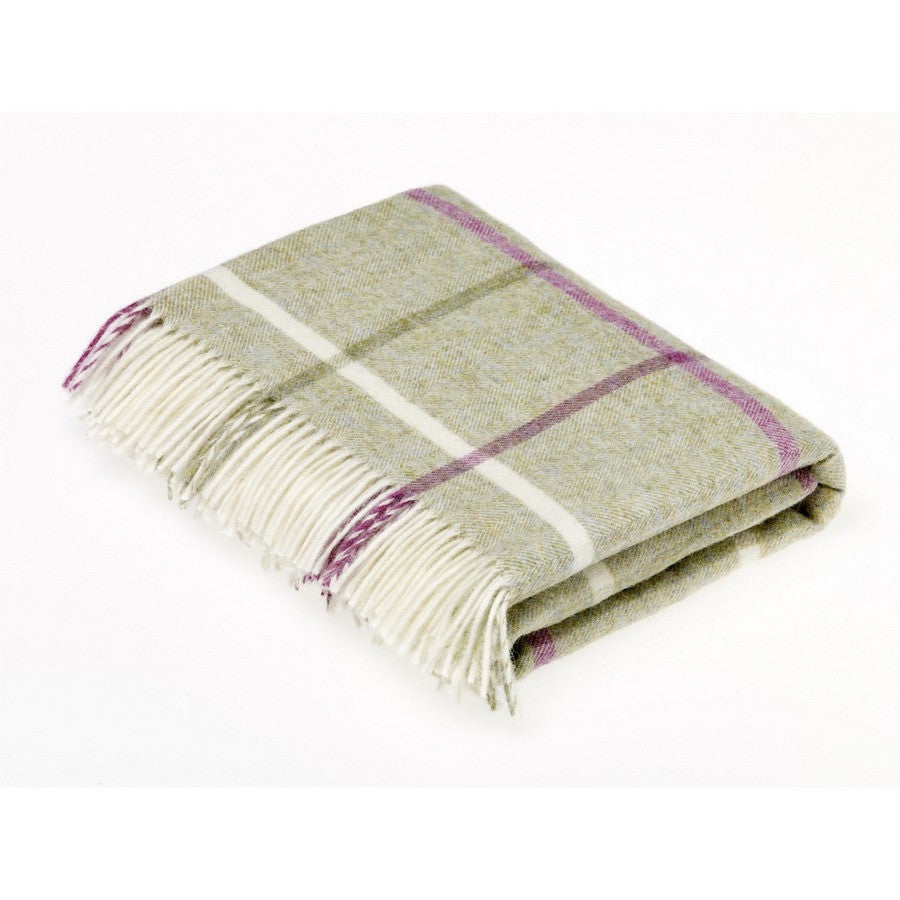 Bronte By Moon Windowpane Fern Luxury Green & Berry Dog Throw - Fernie's Choice