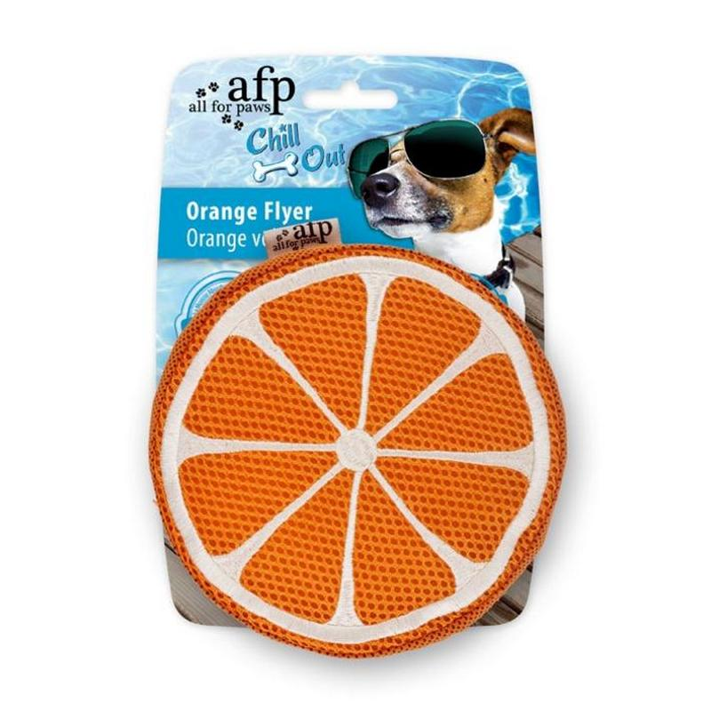 All for Paws Chill Out Orange Flyer Dog Toy from Fernie's Choice Dog Shop