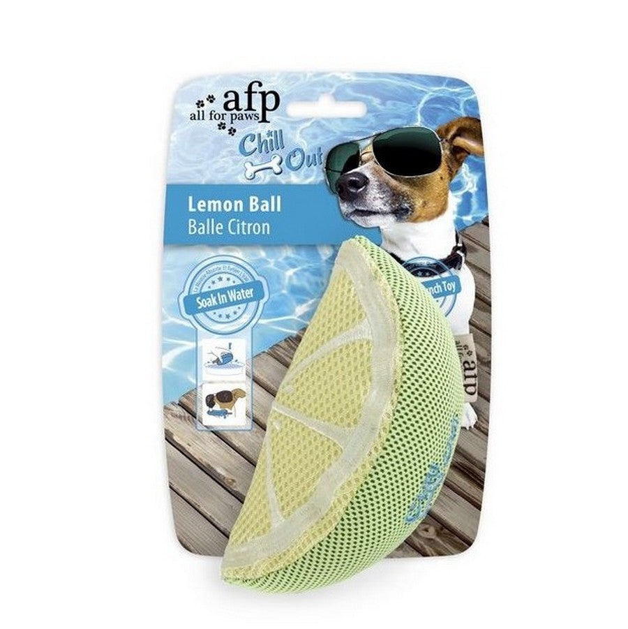 All for Paws Chill Out Lemon Dog Toy from Fernie's Choice Dog Shop