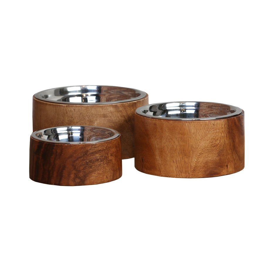 Anderson Designer Raised Wooden Dog Bowl - Fernie's Choice Classic Country Wear for Dogs