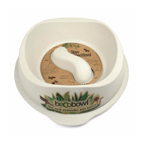 Beco Pets Slow Feed Bowl - Large / Cream - Fernie's Choice Classic Country Wear for Dogs