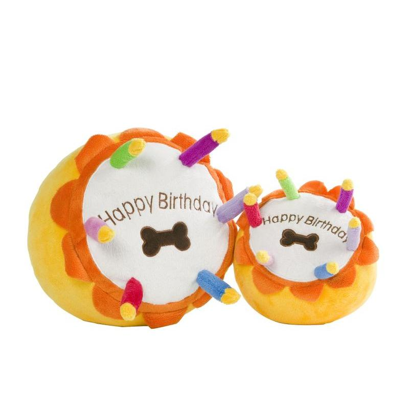 Plush Birthday Cake Squeaky Dog Toy - Fernie's Choice Classic Country Wear for Dogs