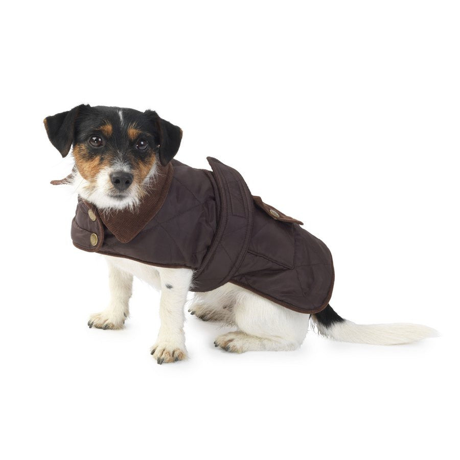 Coco Waterproof Quilted Country Dog Coat - Fleece Lined - Fernie's Choice