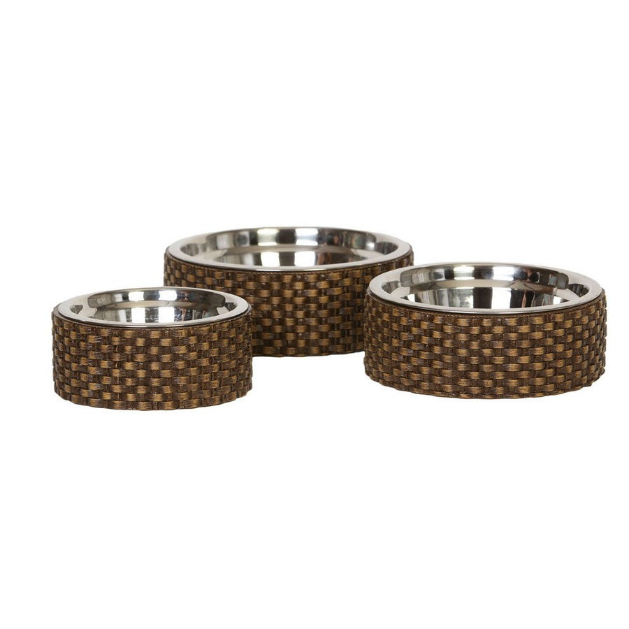 Capri Rattan Designer Luxury Dog Bowl - Fernie's Choice Classic Country Wear for Dogs