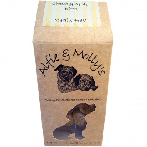 Alfie & Molly's Cheese & Apple Mini Bites 150g - Fernie's Choice Classic Country Wear for Dogs