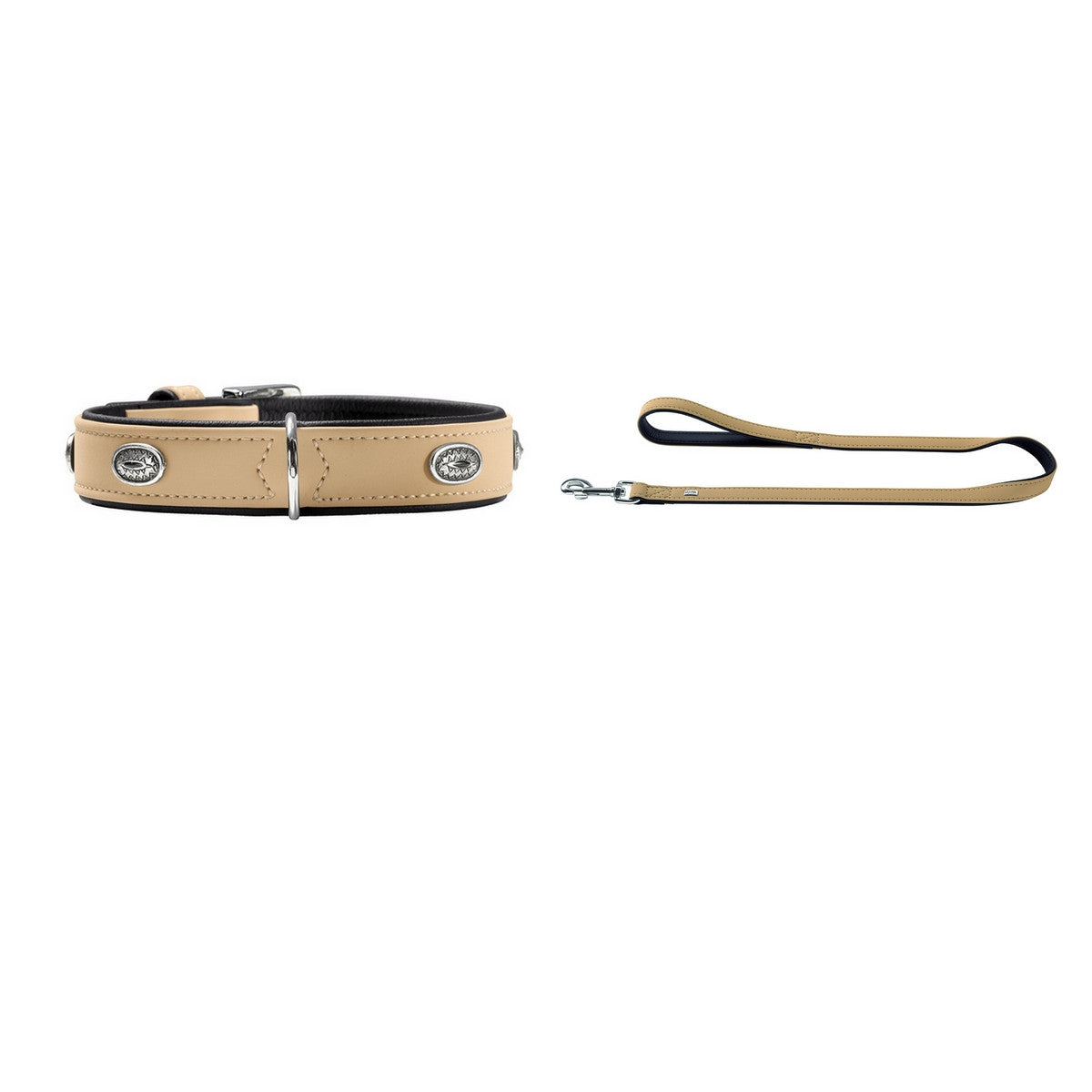 Hunter Art Nubuck Stone Cream Collar & Lead Set - Fernie's Choice Classic Country Wear for Dogs