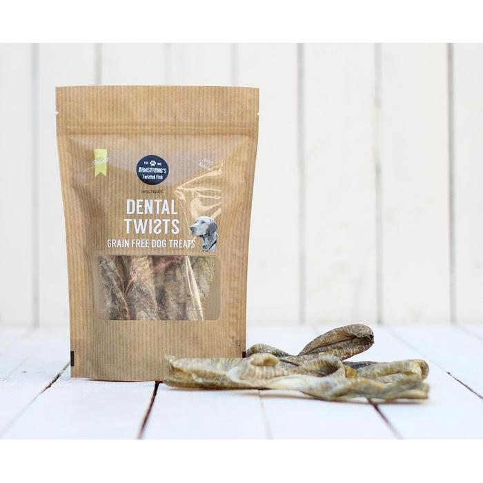 Armstrong's Twisted Fish - Dental Twists, 75g - Fernie's Choice Classic Country Wear for Dogs