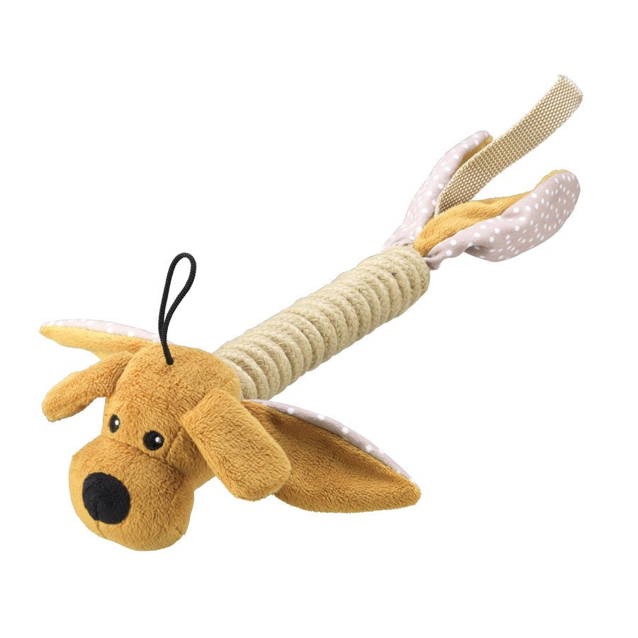 Dog Rope Thrower Dog Toy - Brown