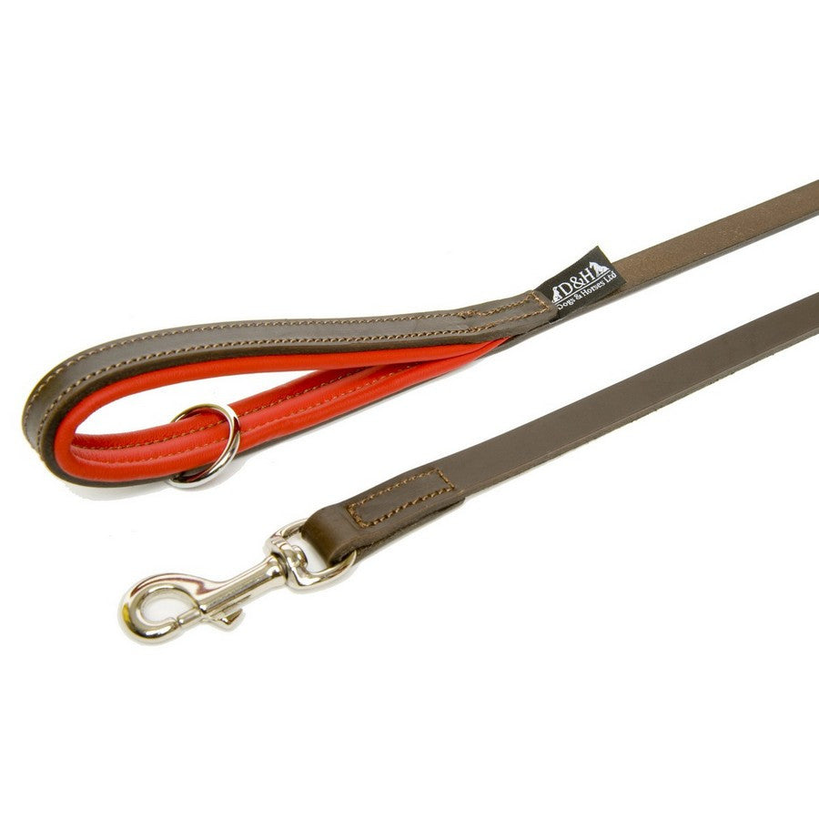 Dogs & Horses Luxury Red & Brown Padded Leather Lead - Matching Collar available - Fernie's Choice