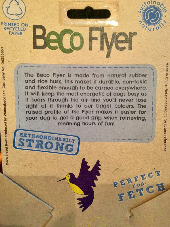 Beco Flyer - Fernie's Choice Classic Country Wear for Dogs