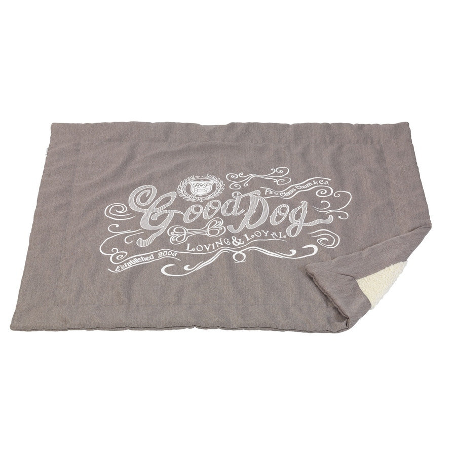 Good Dog Grey Linen Luxury Pet Blanket - Fernie's Choice Classic Country Wear for Dogs