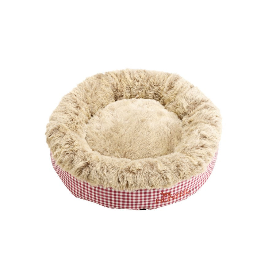 Astana Gingham Round Dog Bed by Hunter - Red - Fernie's Choice Classic Country Wear for Dogs