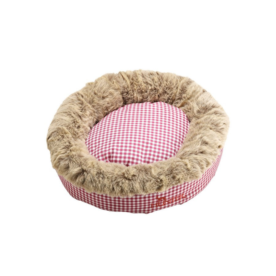 Astana Gingham Dog Bed by Hunter 50 x 50 cm, Red. Fernie's Choice. Luxury Dog Shop