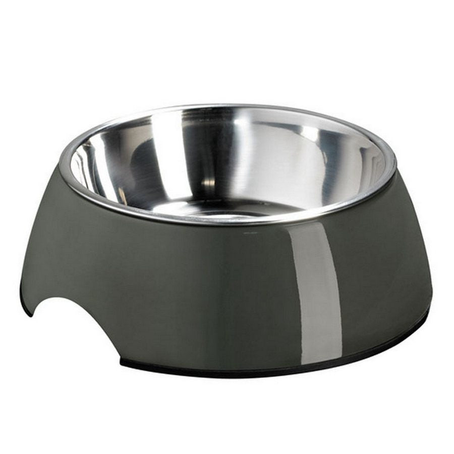 Hunter Melamine Grey Dog Bowl - Variety of Colours & Sizes -350ml & 700ml from Fernie's Choice