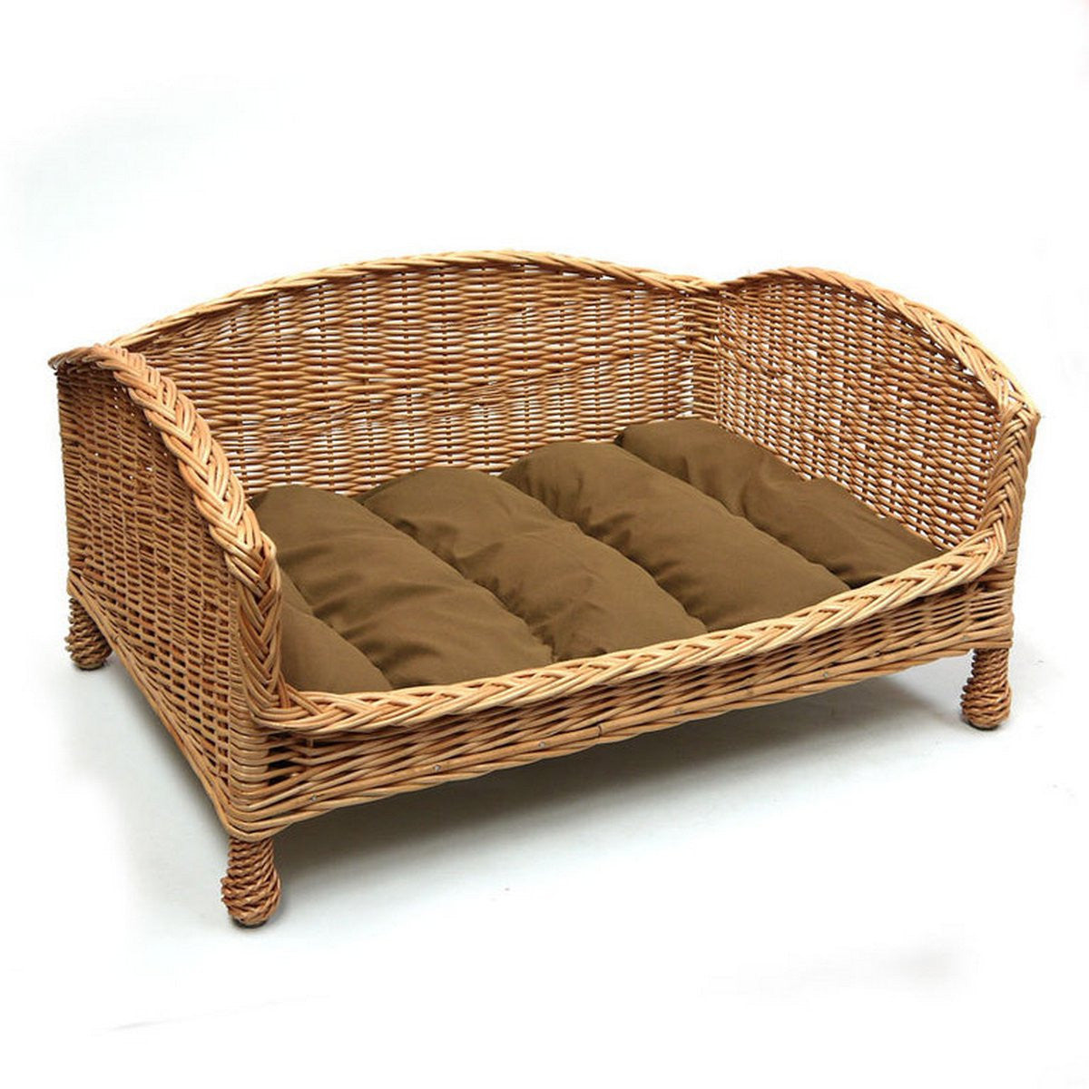 Luxury Wicker And Rattan Dog Bed On Legs Free Uk Delivery Fernie S Choice