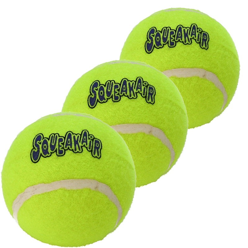 KONG Squeakair Dog Toy Tennis Ball - Medium, Pack of 3 - Fernie's Choice Classic Country Wear for Dogs