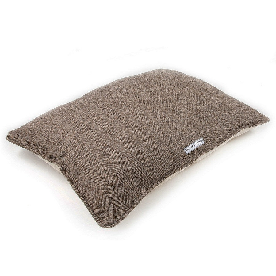 Herringbone Tweed Pillow Dog Bed - Fernie's Choice Classic Country Wear for Dogs
