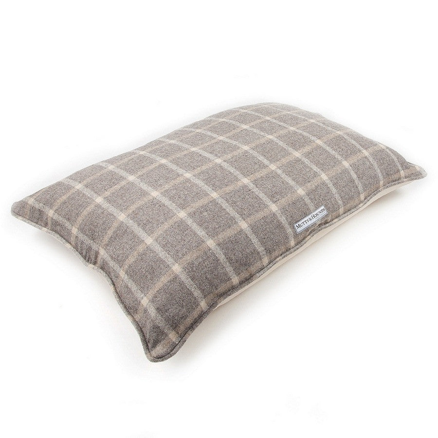 Mutts & Hounds Luxury Slate Tweed Pillow Dog Bed - Fernie's Choice
