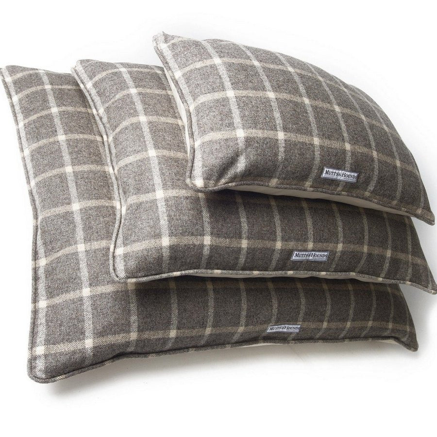 Slate Tweed Pillow Dog Bed - Large - Fernie's Choice Classic Country Wear for Dogs
