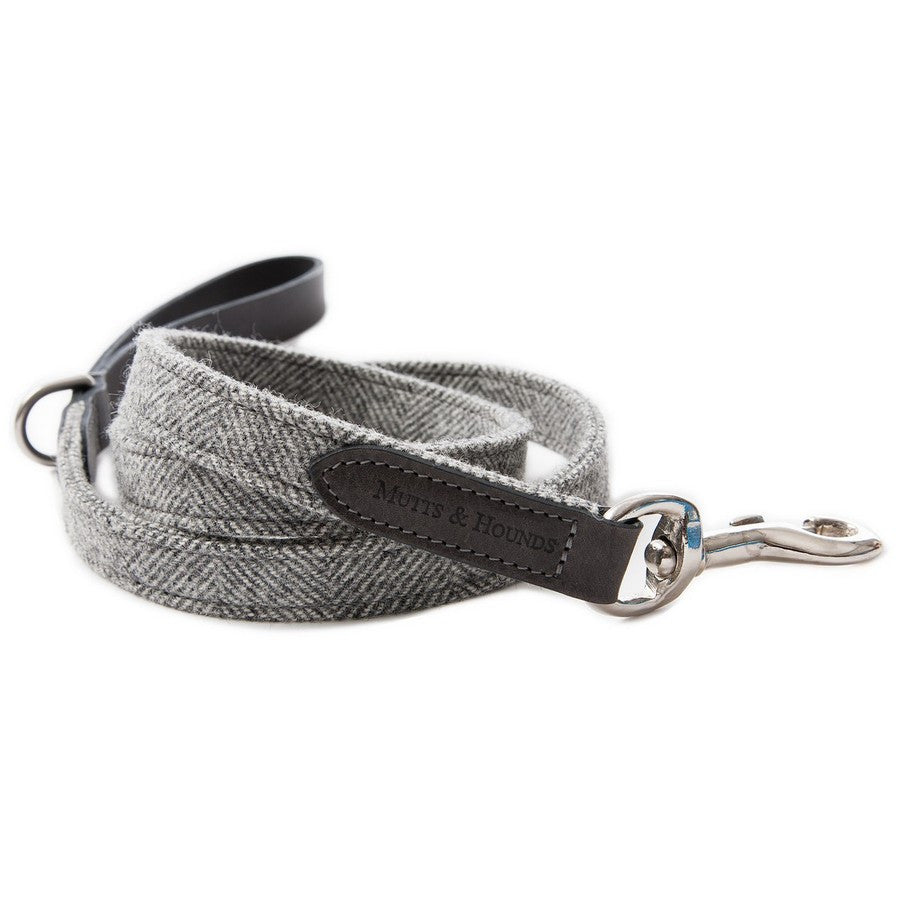 Mutts & Hounds Stoneham Tweed & Leather Dog Lead - Fernie's Choice