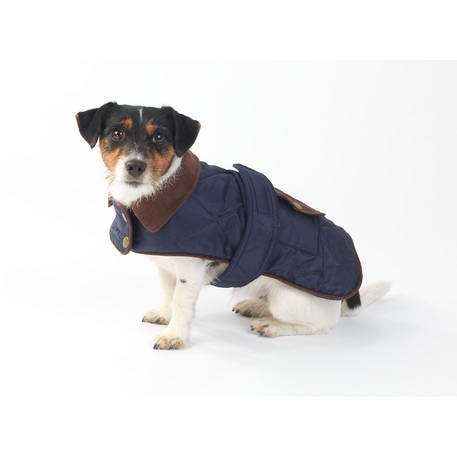 Navy Waterproof Quilted Country Dog Coat - House of Paws - Fernie's Choice