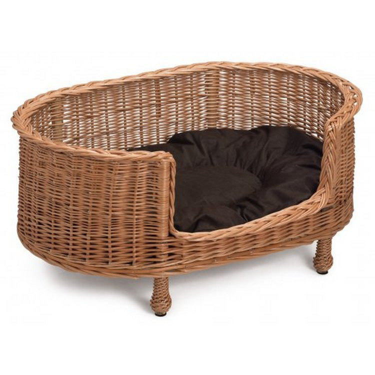 Luxury Oval Wicker Dog Bed - Fernie's Choice Classic Country Wear for Dogs