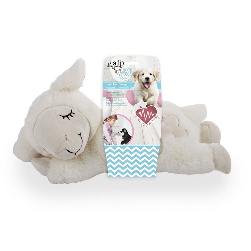 All For Paws Little Buddy Heart Beat Sheep - Luxury Puppy Toys from Fernie's Choice
