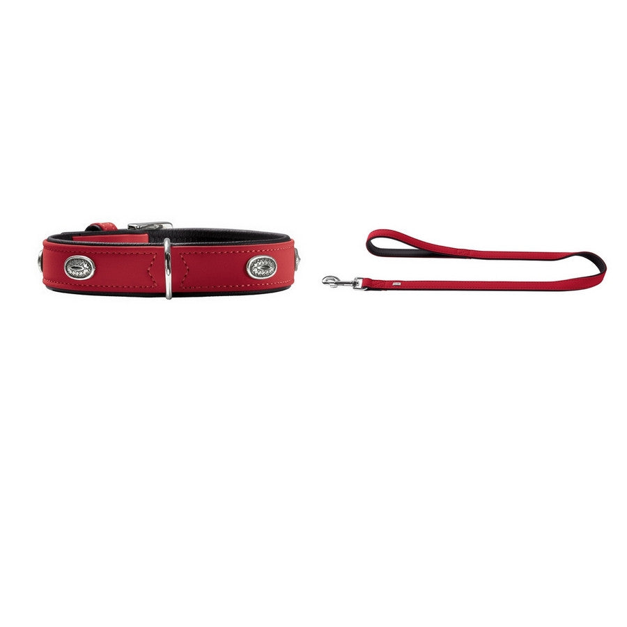 Hunter Art Nubuck Stone Red Collar & Lead Set - Fernie's Choice Classic Country Wear for Dogs