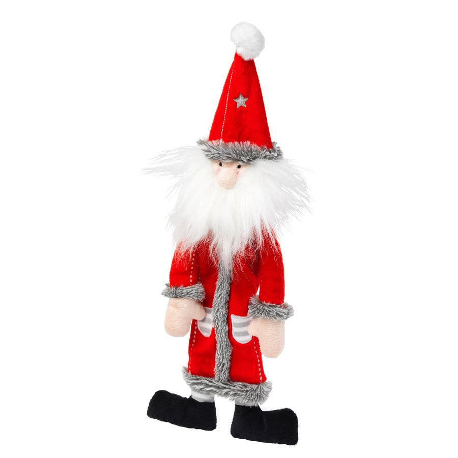 *Silent Night Squeaker and Stuffing Free Santa Christmas Dog Toy - Fernie's Choice Classic Country Wear for Dogs