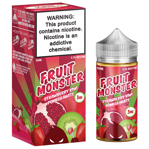 Strawberry Kiwi Pomegranate 100ml by Fruit Monster