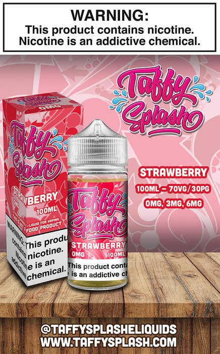 Strawberry 100ml by Taffy Splash