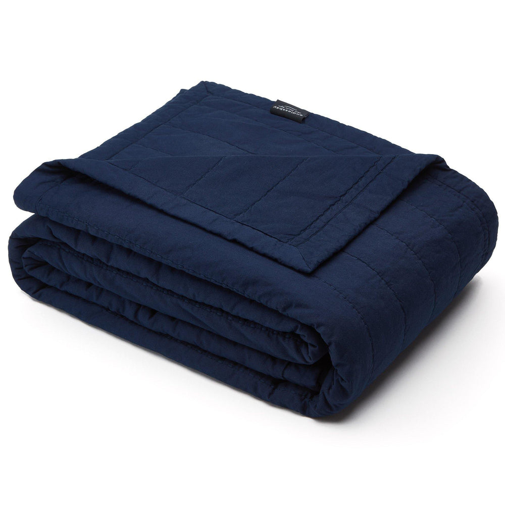 Organic Cotton Quilt-Navy Blue - endlessbay