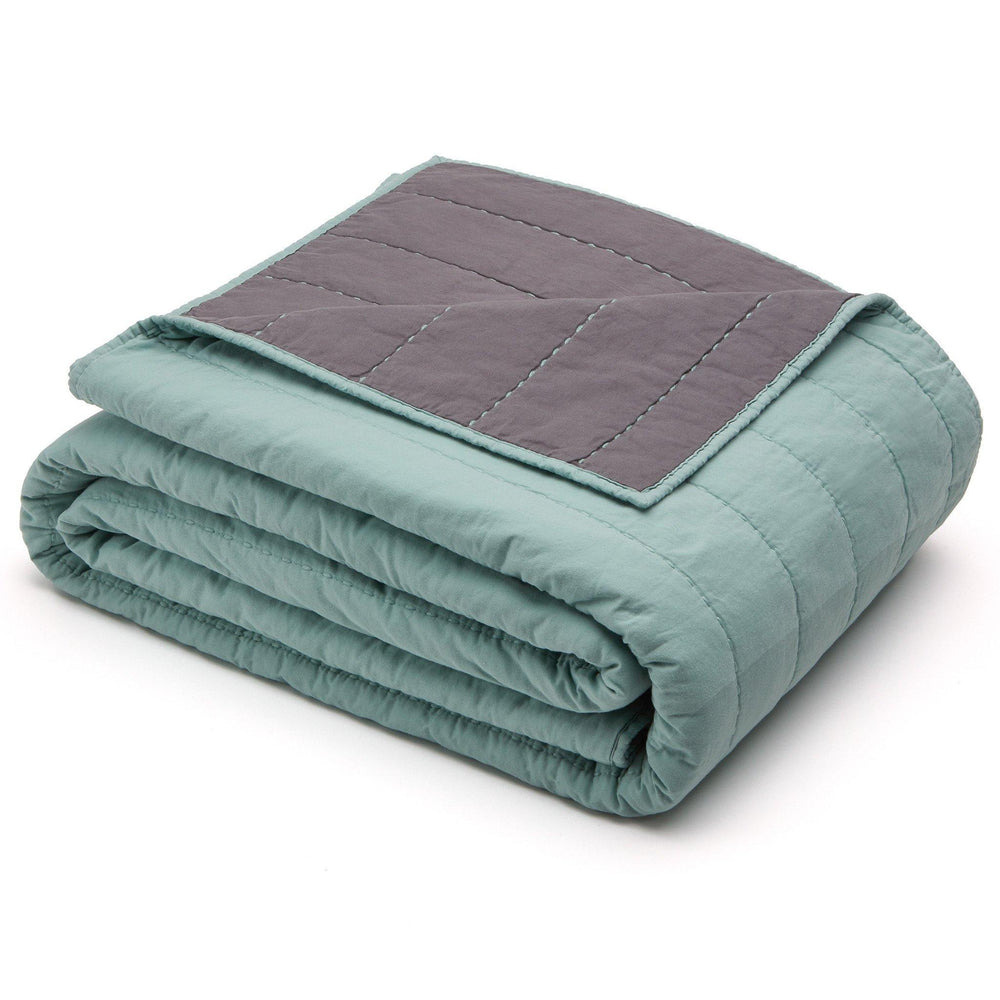 Organic Cotton Quilt-Jade green/Gray - endlessbay (4414470488137)