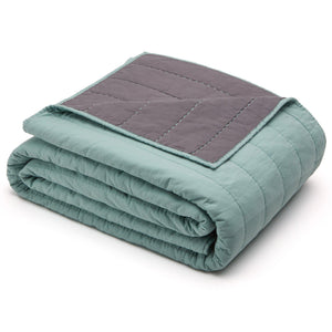 Organic Cotton Quilt-Jade green/Gray - endlessbay