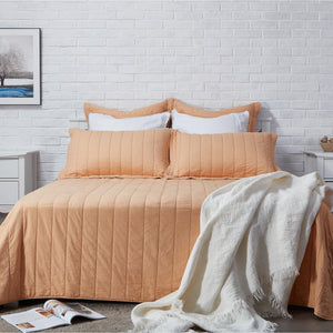 Organic Cotton Quilt-Blush/Gray