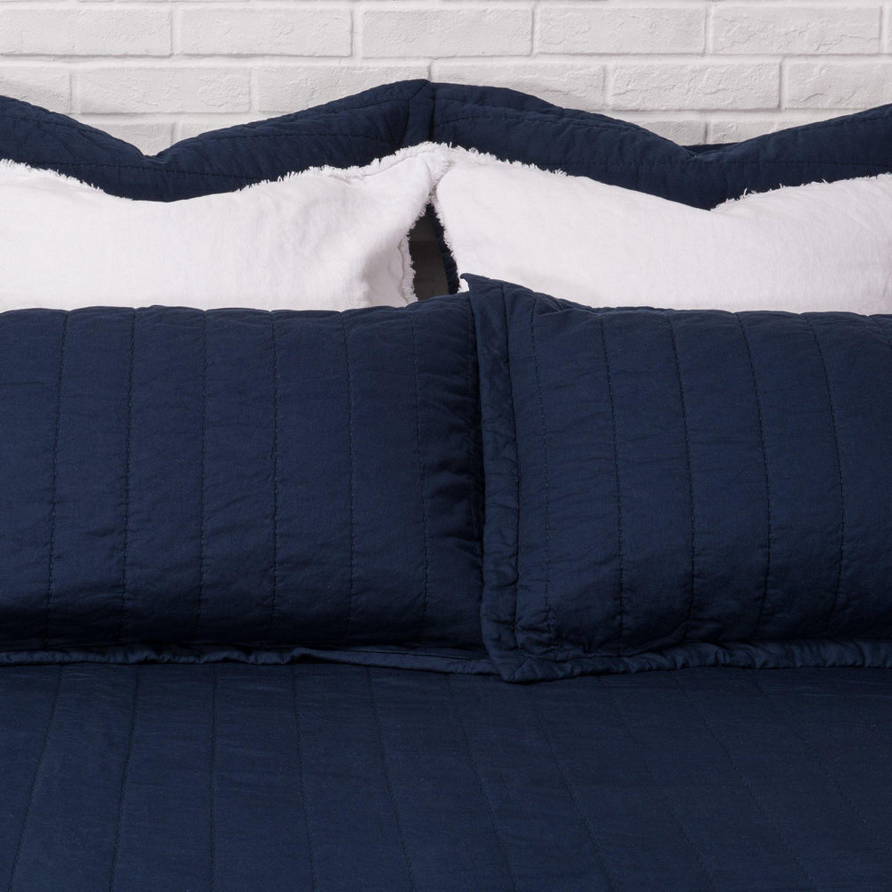 Organic Cotton Quilt-Navy Blue - endlessbay (4414469996617)