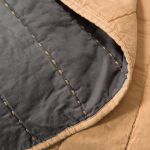 Organic Cotton Quilt-Buff/Gray - endlessbay