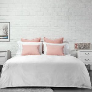 Organic Cotton Duvet Cover-Dawn Grey