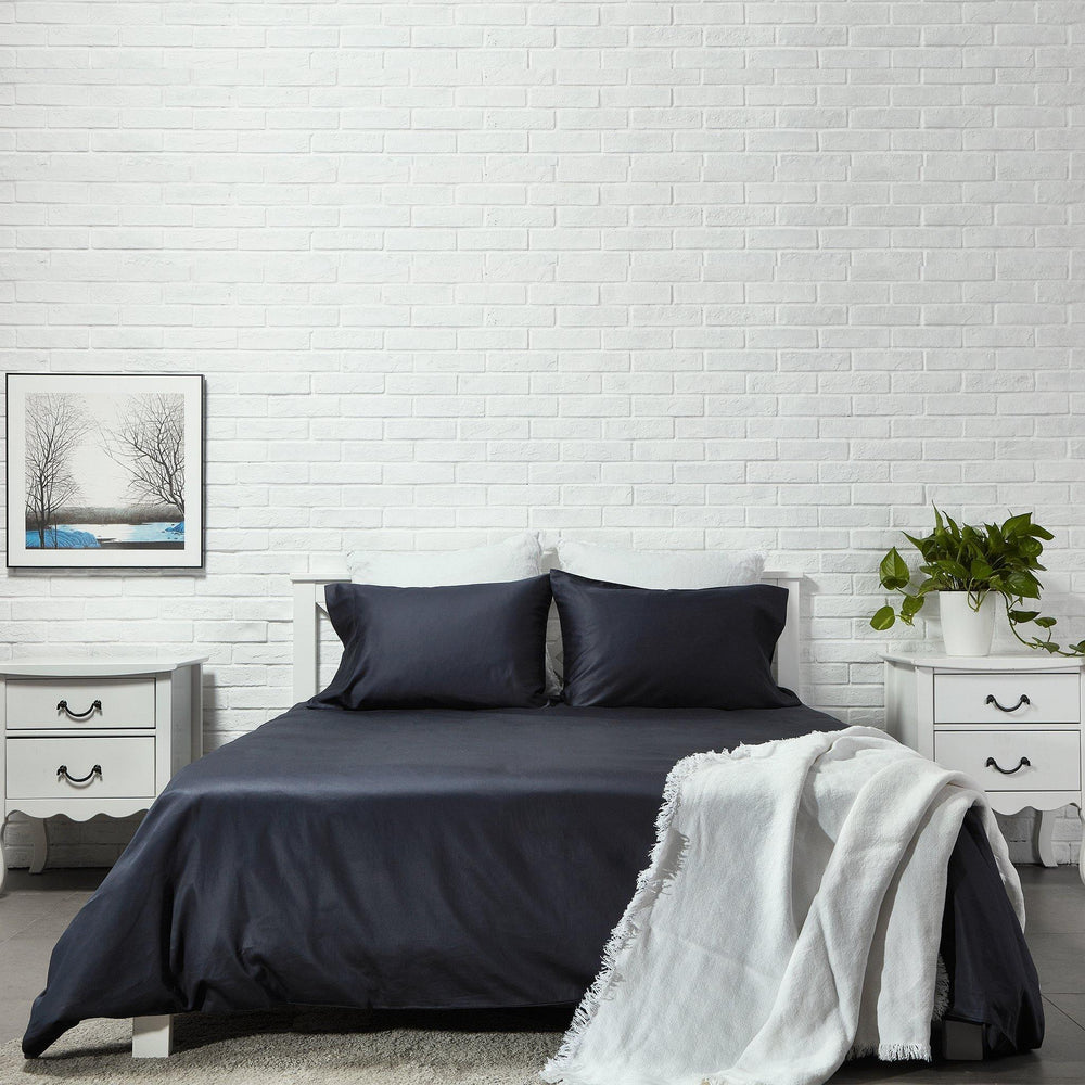 Organic Cotton Duvet Cover-Anchor Grey - endlessbay (4411627864137)