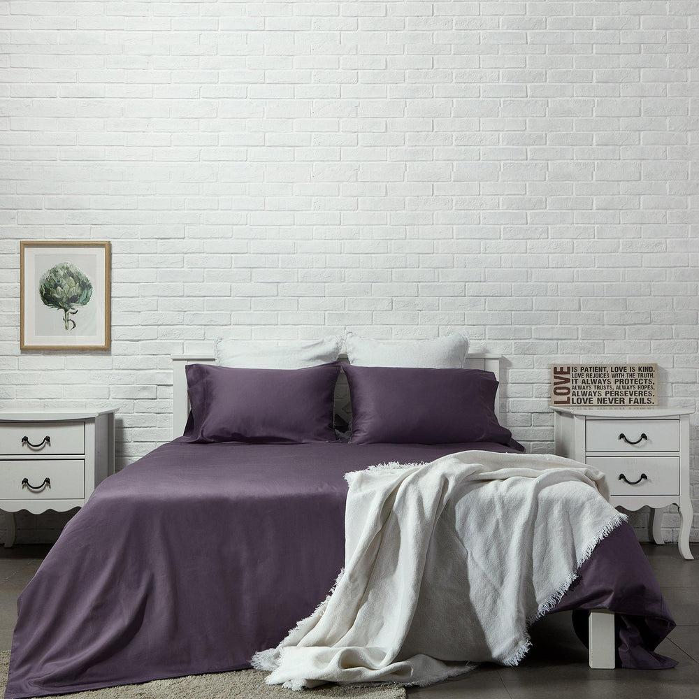 Organic Cotton Duvet Cover-Sangria