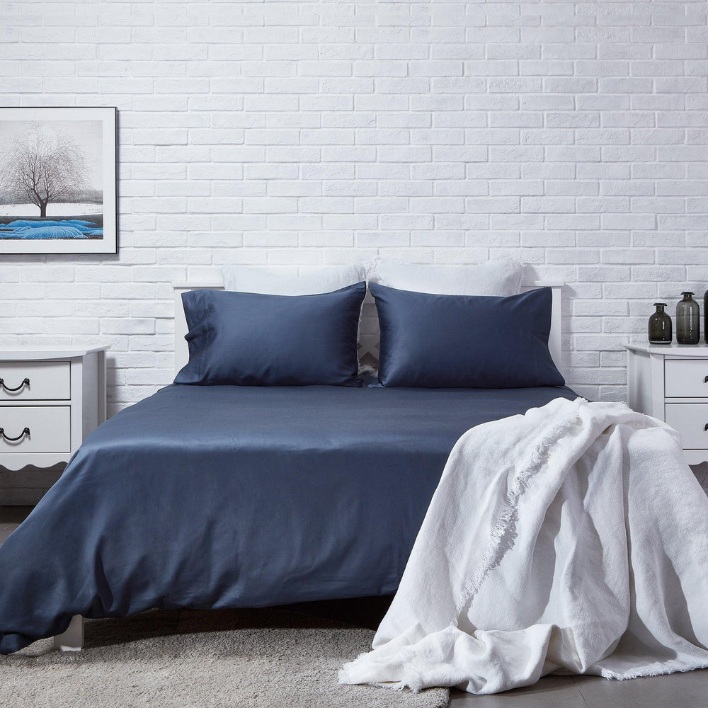 Organic Cotton Duvet Cover-Dawn Grey - endlessbay (4411627405385)