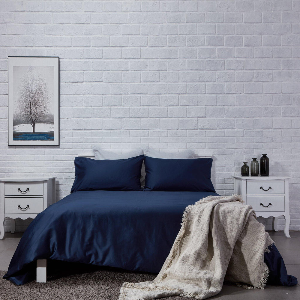 Organic Cotton Duvet Cover-Deep Blue - endlessbay (4411631796297)