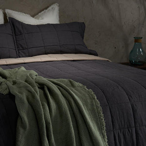 Throw-Charcoal grey - endlessbay