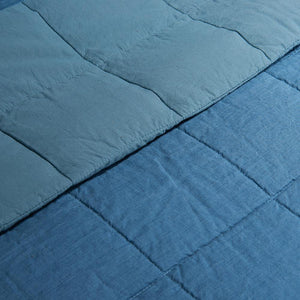 Organic Linen and Cotton Quilt-Toasted coconut - endlessbay