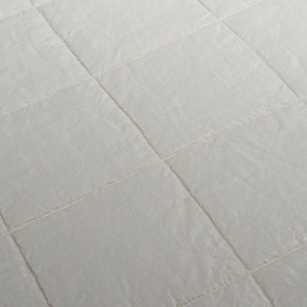 Organic Linen and Cotton Quilted Shams- Toasted Coconut - endlessbay (4450026979401)