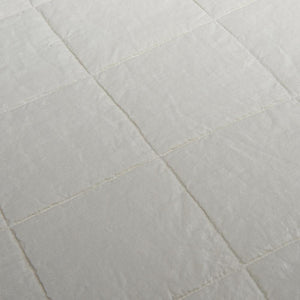 Organic Linen and Cotton Quilt-Toasted coconut